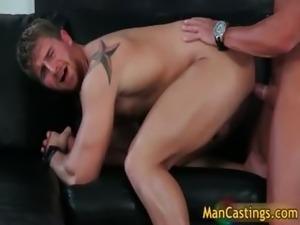 Pretty face gay stud Logan takes rigid part1