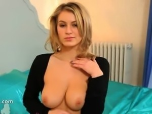 Blonde whore with fluent lingerie