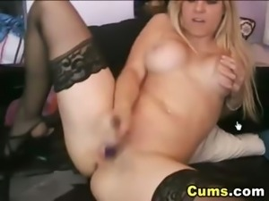Busty Babe Masturbating Hard and Cumming