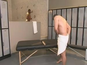 Gym Bathroom Threesome