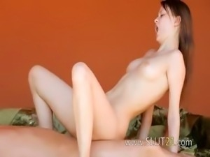 Too big cock into her hairy anal pussy