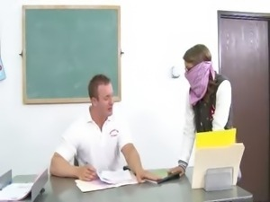 innocent chick punish the teacher