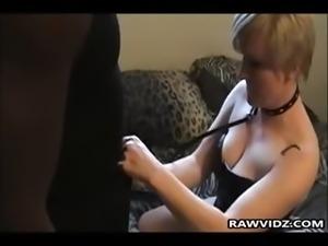 Horny Slut Is Punished By Black Guy