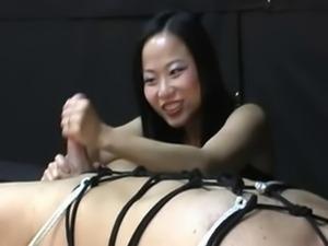 Asian harsh handjob 2