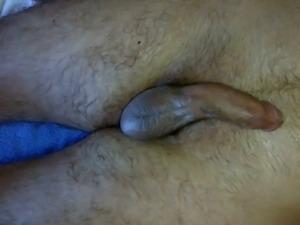 Jacky milking a raw cock dry with feet to taste fresh cum