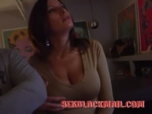Huge Boobs Wife Blackmailed to Sex free