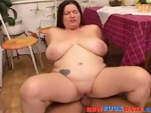Amateur couple have sex in the kitchen