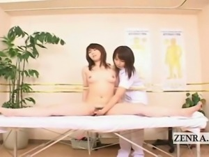 Subtitle ENF CFNF Japanese lesbian chiropractic massage