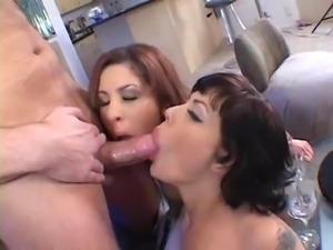 Jezebelle Bond and Lisa Marie swap a guys jizz