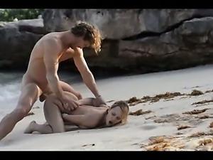 subtle art sex of horny couple on beach