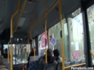 Sex and exhibitionist  Couple on Public Bus free