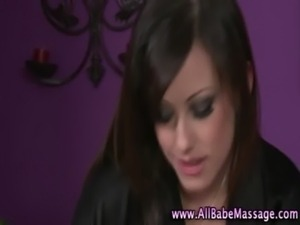 Masseuse babe lesbian massage free