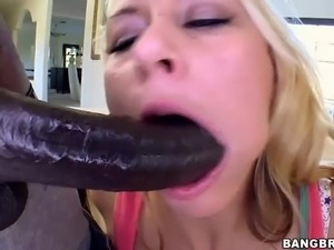 Blonde Katie Summers is a brave lady. Wesley Pipes' huge