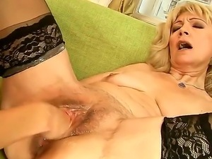 Young and mature Sandora and Szuzanne are enjoying naughty lesbian softcore