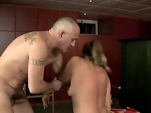 Naughty blonde slut Samantha enjoys long dick pounding her in hardcore session