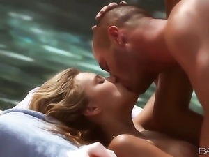 Erotic sexy body Alanna Anderson enjoying a nice fuck then takes cum shots