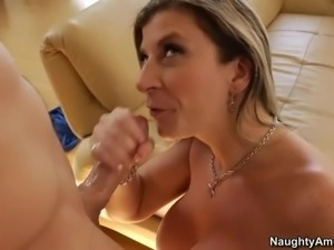 Delicious mom Sara Jay with huge round boobs and big