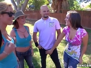 Cock loving attractive lusty whores Reagan Conner, Sophie Dee and