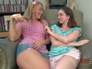 Ally Evans and Ajay Applegate are playful young girls. They