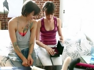 Dana Dearmond and Belladonna are two dark haired girls who