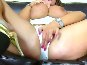 Big tits Emma needs a hard pecker to tame her wild pussy and she is giving...