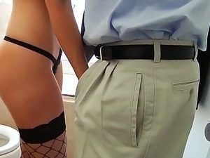 Amazing dark haired babe India Summer is seducing lucky guy Mark Wood