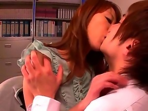 Asian chick Arisa Sawa gets nasty and wild while feeling this guys cock...