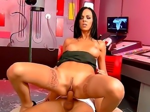 Brunette with tight pussy Brenda Black lets hunk Bruno to smash up her lovely...