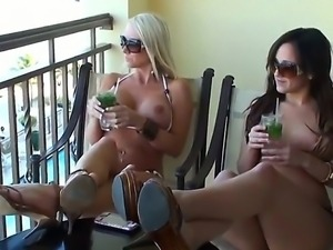 Hardcore lesbian fuck with a gorgeous slut named Lynn Love and Molly Cavalli
