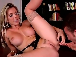 enjoy flamboyant and sexy blonde mature Courtney Cummz fucking with Jordan Ash