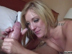 Amy Brooke is a skinny blonde girl with small boobs