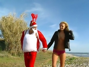 Gorgeous teen Ivana Sugar knows the way Santa likes his cock sucked and...