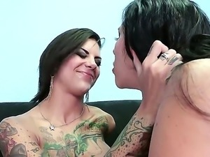 Dirty sluts Bonnie Rotten and Missy Martinez are horny and eager to have...