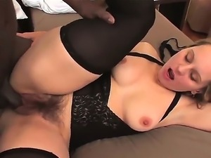 Look at amazing depraved mature Magda having fun with her black friend...