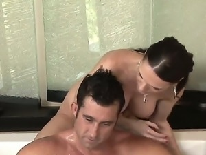Tall and winsome brunette lady Jennifer Dark presents this lucky guy awesome...