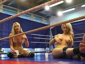 Antonya and Sophie Moone thrown into a boxing ring and the loser gets her...