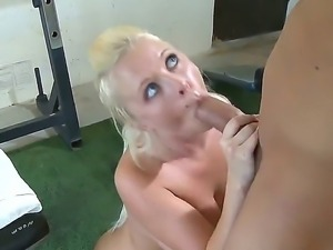 Busty blonde Angel Vain gets hard pounded by hunk with a huge cock Will Powers