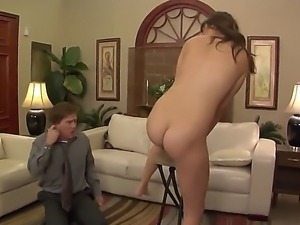 Its not hard for a curvy star Holly Michaels to find someone to worship her...