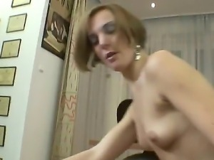 Slutty roccos enjoys sucking cock and moans as huge cock penetrates her tight...