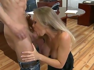 Dyanna Lauren is a perfect and first sex teacher for her student named Alan...