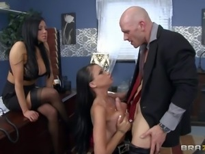 Audrey Bitoni and Raven Bay are his secretary and his