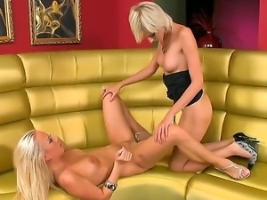 Blondes Carla Cox and White Angel in the exciting and inspiring lesbian scene