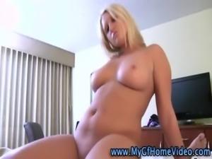 Curvy real amateur girlfriend blonde free