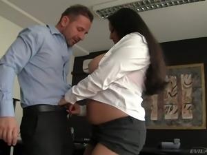 Gorgeous and busty brunette honey with massive tits Juliana Grandi