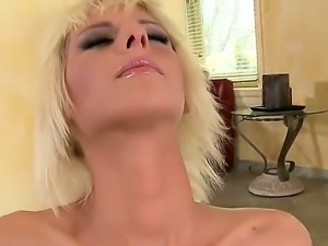 Superb blonde babe White Angel is horny and in deep need for intense...