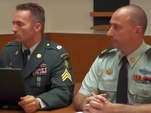 Dana Dearmond loves men in uniform. Handsome dude removes his