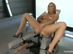 Big breasted hot lady Katja Kassin spreads her legs wide
