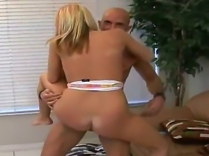 Sexy blonde with cute face came at her first audition and gets fucked...