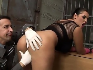 Awesome minx Jasmine Black enjoys licking her ass by Max Payne in the...