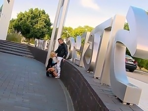 Shameless minx Erica Fontes performs an awesome public sex action, licking a...